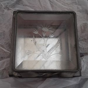 Other - Stained glass box with floral motif